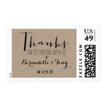 Thanks For Celebrating With Us! Wedding Thank You Postage