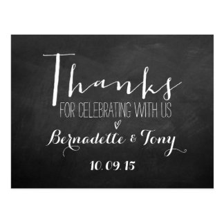 Thanks For Celebrating With Us! Wedding Thank You Postcard