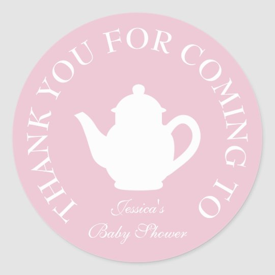 Thanks For Coming Baby Shower Tea Party Stickers Zazzle