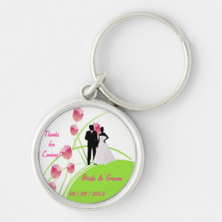 Thanks for Coming (Green and Pink) Keychain