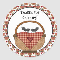 Thanks for coming picnic ant sticker