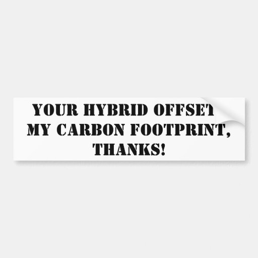 thanks for driving a hybrid bumper sticker