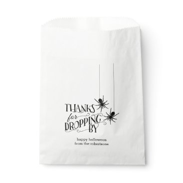 Halloween Themed Thanks for Dropping By | Spider Halloween Candy Favor Bag