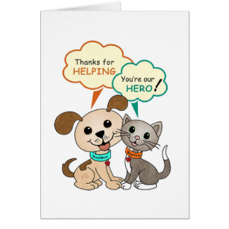 Thanks for helping... (BowWow & MeeYow) Card