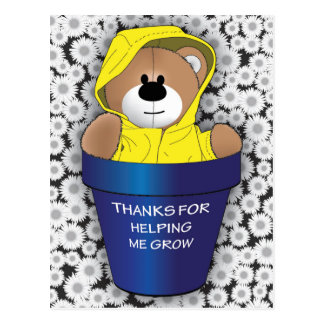 Thanks For Helping Me Grow Postcard