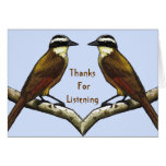 Thanks For Listening: Birds Face To Face Greeting Cards