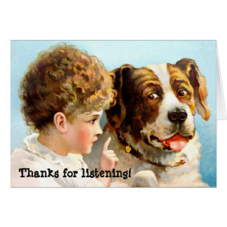 Thanks for listening! card