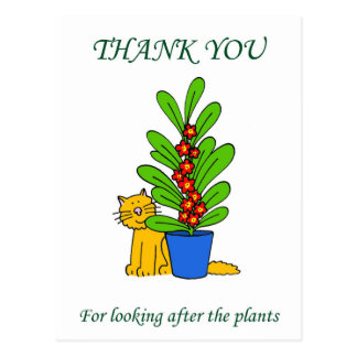 Thanks for looking after the plants. postcard