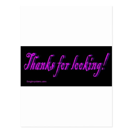 thanks_for_looking post cards