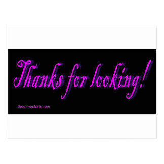 thanks_for_looking postcard