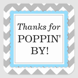Thanks For Popping By Stickers   Zazzle