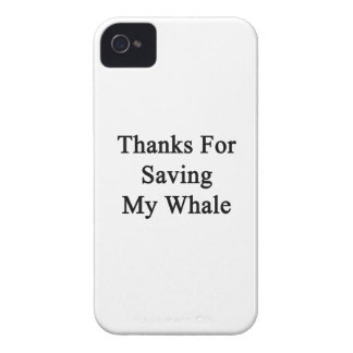 Thanks For Saving My Whale Case-Mate iPhone 4 Cases
