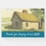 """[ Thumbnail: """"Thanks For Staying at Our B&B!"""" + Rustic Cottage Guest Book ]"""