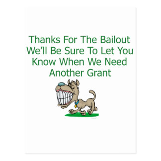 Thanks For The Bail Out Postcard