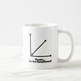 thanks for the complement coffee mug