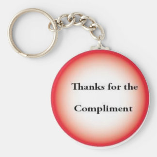 Thanks for the compliments basic round button keychain