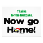 """""""Thanks for the Fruitcake...Now GO HOME!"""" Invite"""