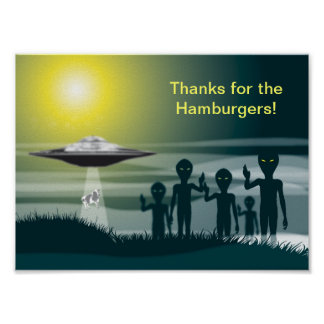 Thanks for the Hamburgers Poster