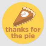 Thanks for the Pie Classic Round Sticker