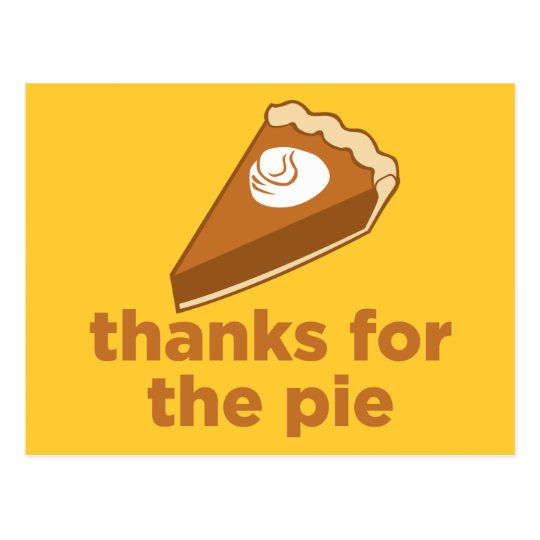 Thanks for the Pie Postcard
