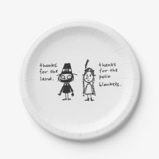 Thanks for the Polio Blankets Thanksgiving Stuff 7 Inch Paper Plate