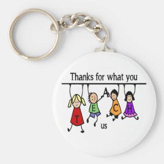 Thanks for what you Teach US Fun Teacher art Keychain