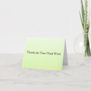 For Hard Work Thank You Cards Zazzle