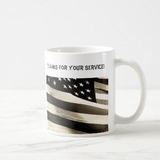 Thanks for Your Service, American Flag Coffee Mug