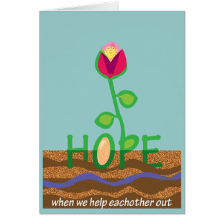 Thanks for your support in tough times card