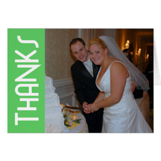 Thanks Funky Thank You Notecard (Lime Green)
