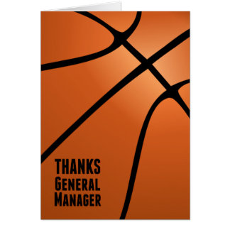 Thanks General Manager for Your Leadership Card