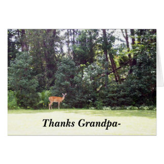 Thanks Grandpa-Deer Tree Scene Card
