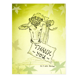 Thanks---- Guernsey Cow Postcards