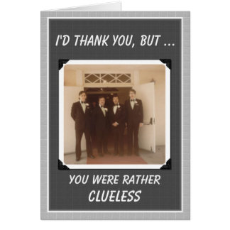 Thanks Guys Wedding Thanks - FUNNY Card