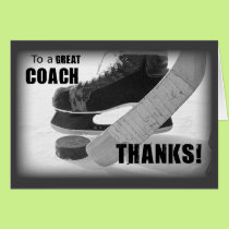 Thanks Hockey Coach Card