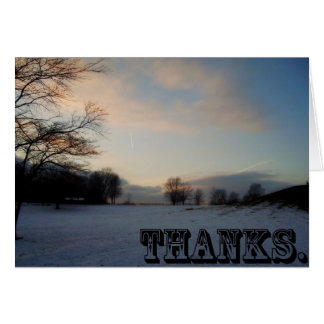 Thanks in the Snow Card