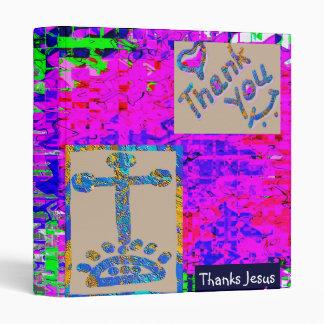 THANKS JESUS 3 RING BINDER