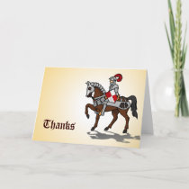 Thanks - Knight in shining Armor Thank You Card
