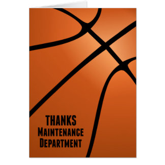 Thanks Maintenance Department-We Depend on You Greeting Card