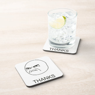 Thanks Meme - set of 6 Cork Coasters