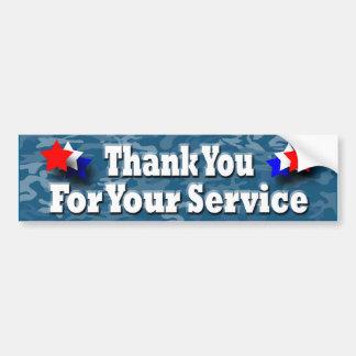 Thanks Military Bumper Sticker