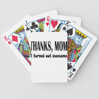 thanks mom bicycle playing cards