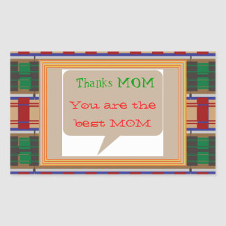 Thanks MOM - editable text for other uses Rectangular Sticker