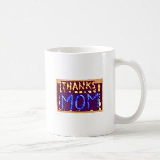 THANKS MOM -  Gold RoyalBLUE Mothersday Gifts Classic White Coffee Mug