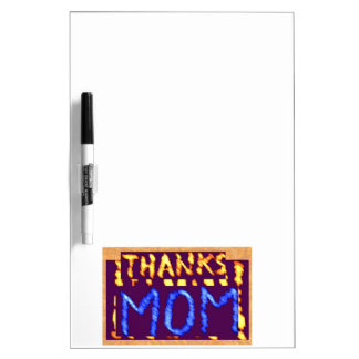 THANKS MOM -  Gold RoyalBLUE Mothersday Gifts Dry-Erase Board