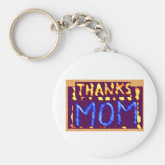 THANKS MOM -  Gold RoyalBLUE Mothersday Gifts Keychains