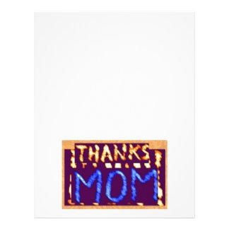 THANKS MOM -  Gold RoyalBLUE Mothersday Gifts Letterhead