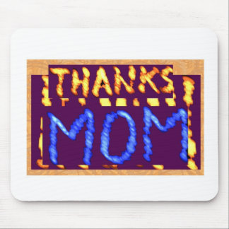 THANKS MOM -  Gold RoyalBLUE Mothersday Gifts Mouse Pad