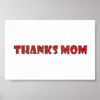 THANKS MOM handwrite more GREETINGS  KIDS family Print