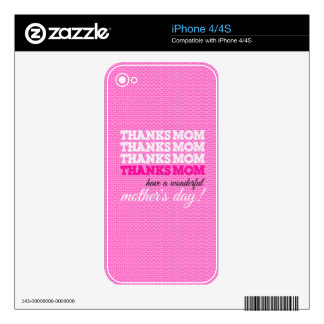 Thanks mom! iPhone 4S skin